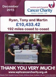 Weston Park Hospital Cancer Charity Donation