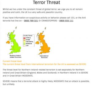 UK Terror Threat Level from Northern Ireland based sources raised